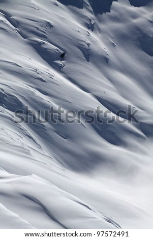 Waves of snow - stock photo