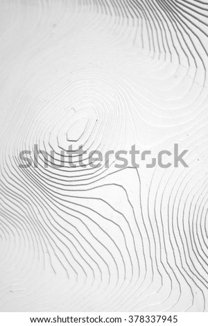 waves of white paper layers - stock photo