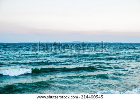 waves on the black sea  - stock photo