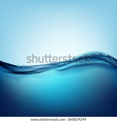 Waves on the water surface. Natural background. Stock illustration. - stock photo