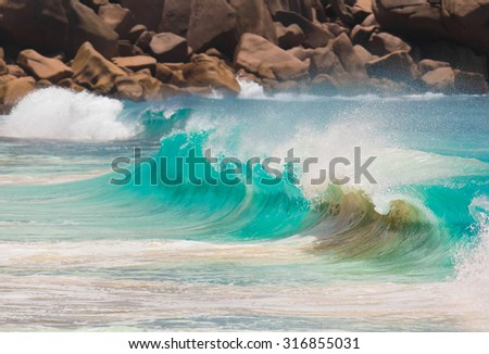 Waves Storm Tide  - stock photo