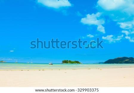 Waves Summer Wallpaper  - stock photo