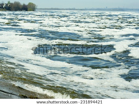 waves surface - stock photo