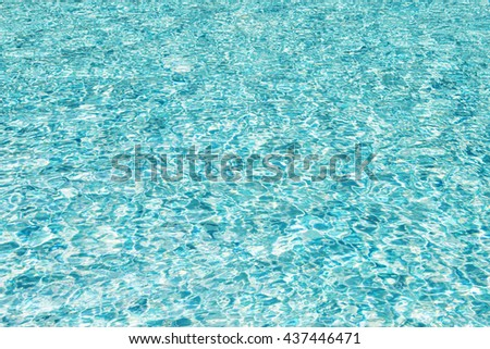 Waving, blue water surface