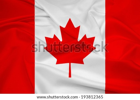 Waving Canada Flag - stock photo