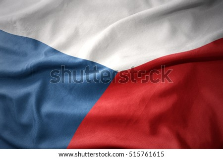 waving colorful national flag of czech republic.
