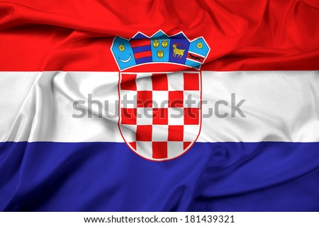 Waving Croatia Flag - stock photo
