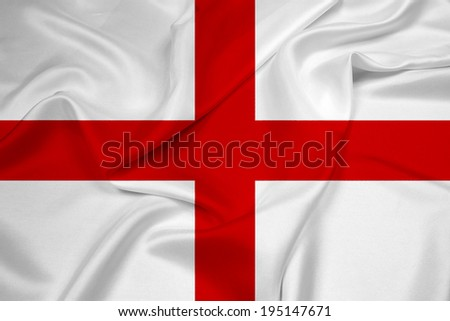 Waving England Flag - stock photo
