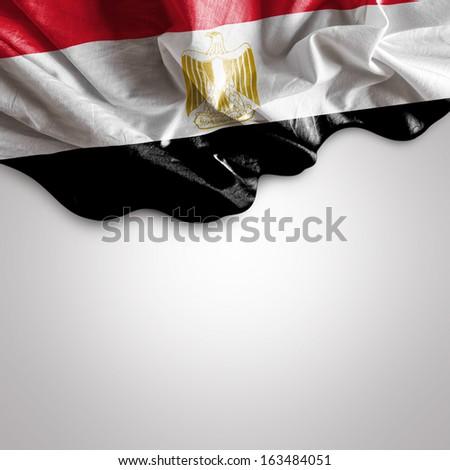Waving flag of Egypt, Africa - stock photo