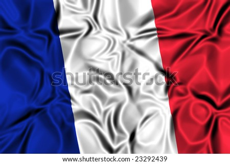 Waving flag of France - stock photo