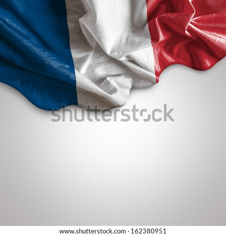 Waving flag of France, Europe - stock photo