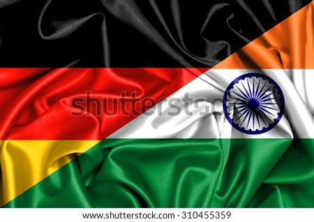 Waving flag of India and Germany