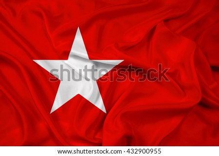 Waving Flag of Maastricht - stock photo
