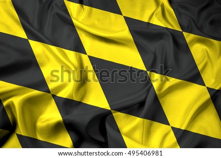 Waving Flag of Munich (lozengy), Germany