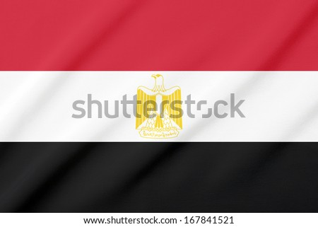 Waving flag of the Egypt - stock photo