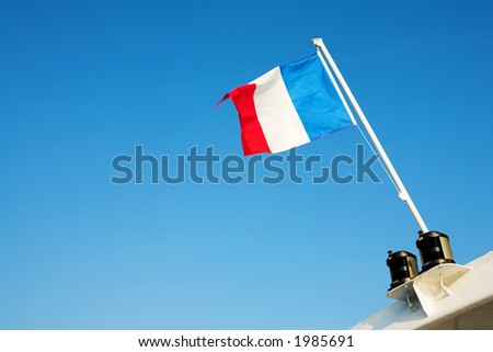 Waving French Flag
