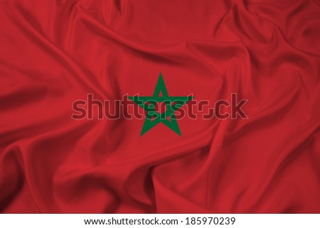 Waving Morocco Flag