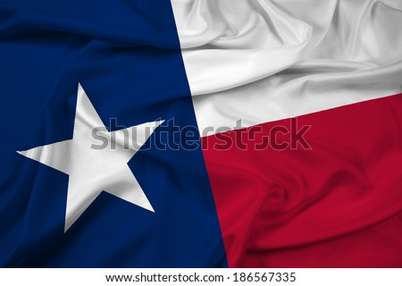 Waving Texas State Flag - stock photo