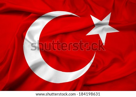 Waving Turkey Flag