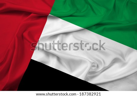 Waving United Arab Emirates Flag - stock photo