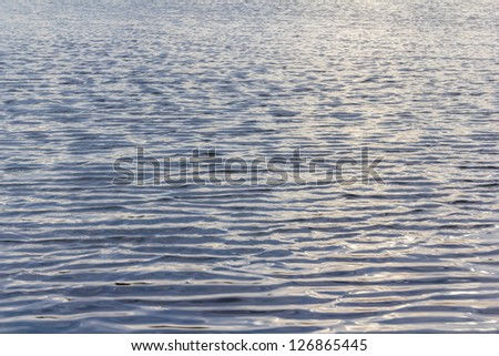 Waving, water surface background - stock photo