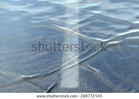 Waving Water surface closeup photo in color - stock photo
