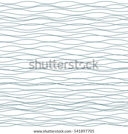 Wavy background. Abstract fashion pattern. Grey and white color. Light horizontal wave striped texture