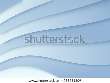 Wavy background in blue color - template. illustration - stock photo