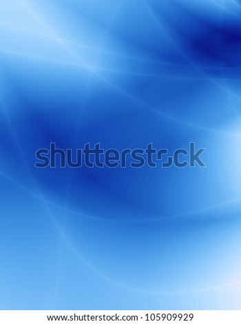 Wavy blue abstract background - stock photo