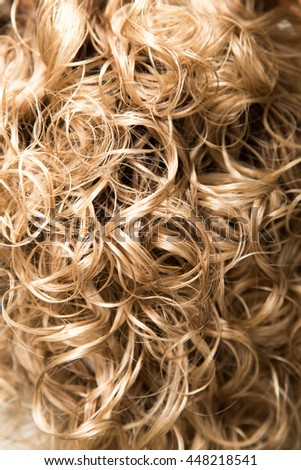 wavy hair as background. texture - stock photo
