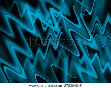 Wavy Lines Abstract - stock photo