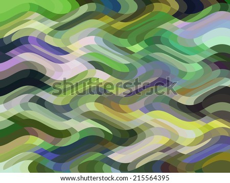 Wavy parti-colored abstract for decoration and background