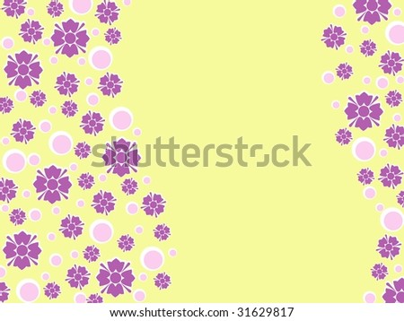 Wavy retro floral background (JPG); a vector version is also available - stock photo