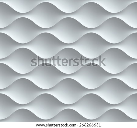 wavy seamless 3d background - stock photo