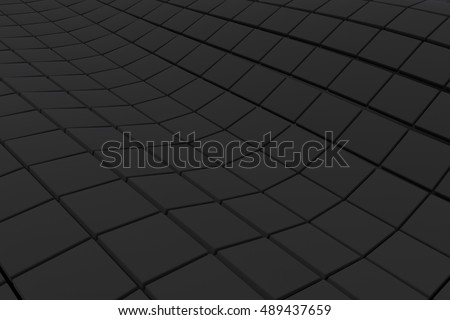 Wavy surface made of cubes, abstract background, 3d render illustration