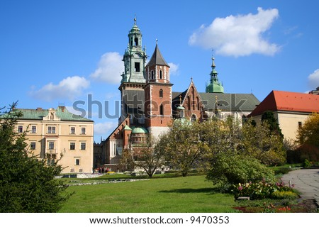 Wawel Castle. Krakow. Poland. Medieval history memorial - stock photo