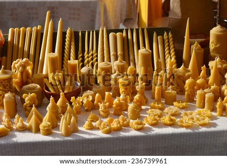 Wax candles - stock photo