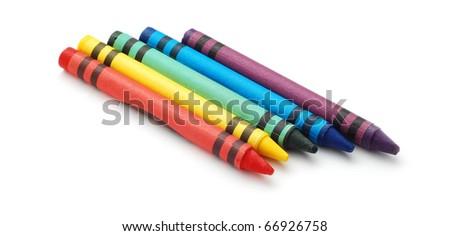 wax crayons - stock photo