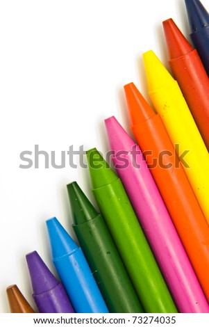 Wax crayons - stock photo