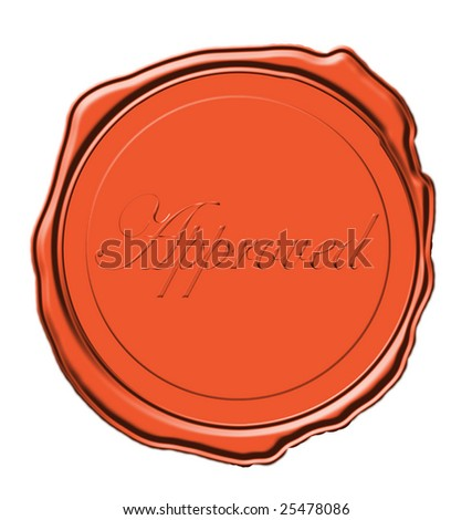 wax seal for for product or an award or certificate icon isolated on white