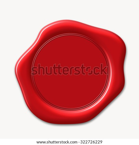 wax seal isolated on white background  - stock photo