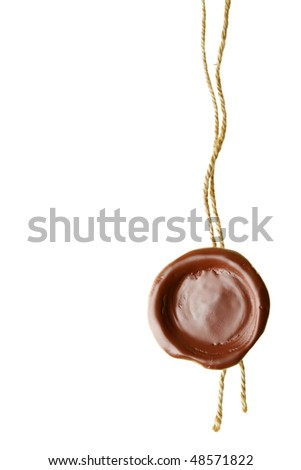 Wax seal isolated over a white background - stock photo