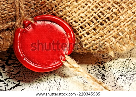 wax seal stamp - stock photo