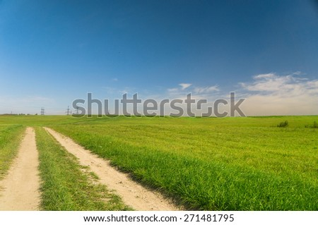 Way Ahead Vibrant Colors  - stock photo