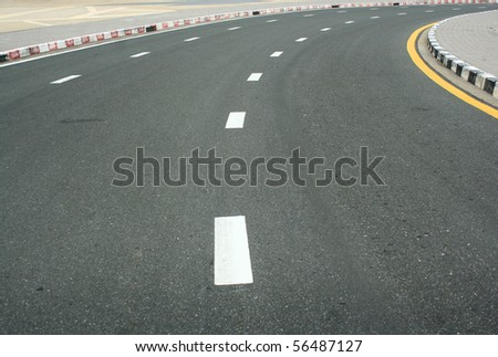 way and traffice surface - stock photo
