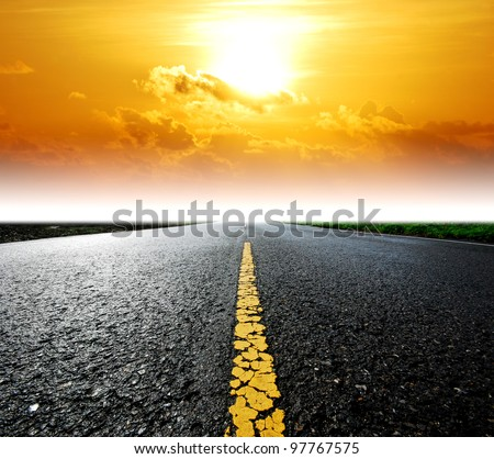 Way background road destination sunset cloud sky beam