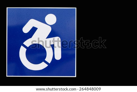 Way for wheelchair,Black on background. - stock photo