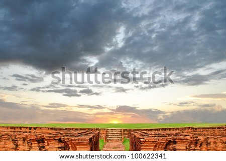 way of sunset - stock photo
