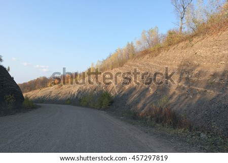 way on the mountains, autumn landscape