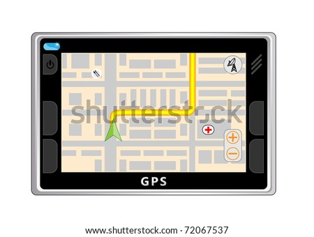 Way on the screen of GPS navigator